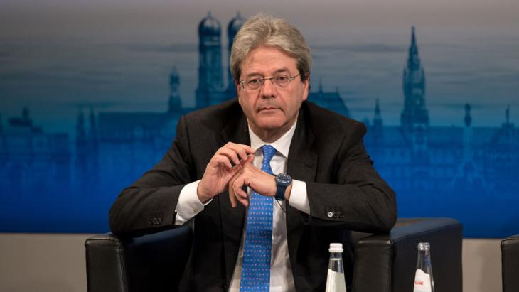 Italiens Außenminister Paolo Gentiloni; Foto: picture-alliance/dpa/S. Hoppe