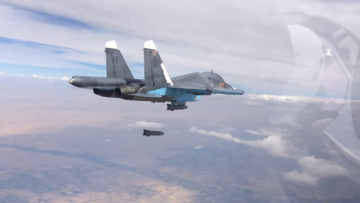 Russian SU-37 fighter jet conducts a bombing raid in Syria (photo: Mil.ru; Creative Commons Licence 4.0)