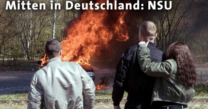 Film still from the ARD trilogy ″Mitten in Deutschland: NSU″