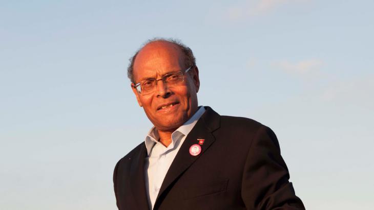 Former president of Tunisia, Moncef Marzouki (photo: Sarah Mersch/DW)