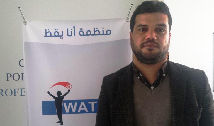 Mouheb Garoui from the organisation ″I Watch″ (photo: Sarah Mersch)