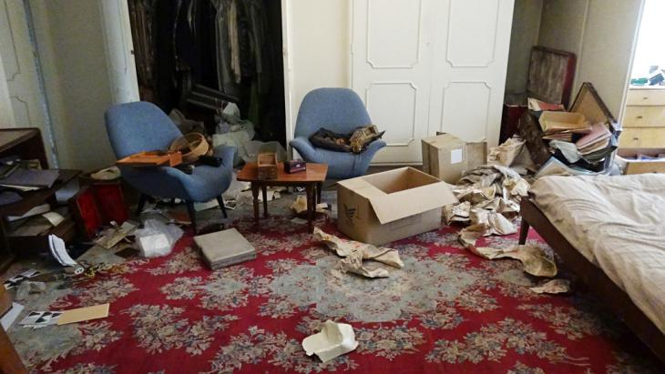 Devastation following the break-in in Tehran (photo: private)