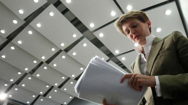 Swiss Minister for Justice Simonetta Sommaruga (photo: Reuters)