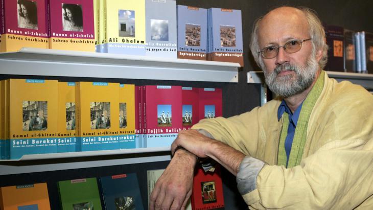 The German literary scholar Hartmut Faehndrich (photo: picture-alliance/dpa/F. May)