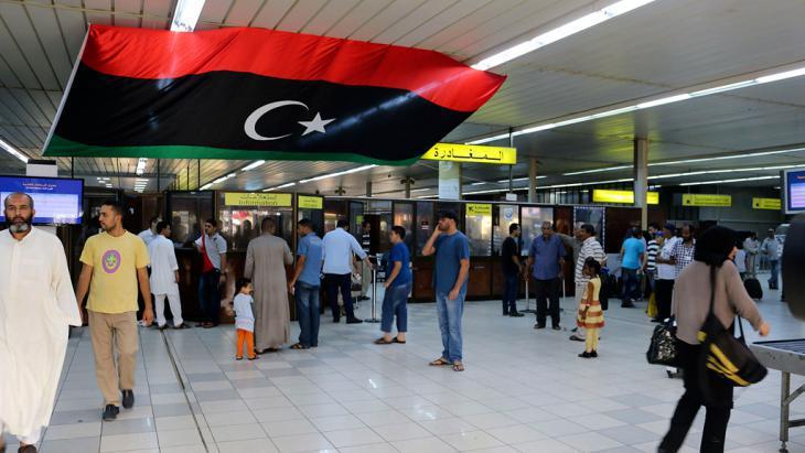 Foyer of the Libyan military airport Mitiga (photo: Reuters)