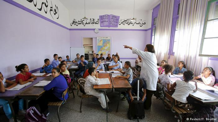 Children attend Oudaya Primary in Rabat, capital of Morocco