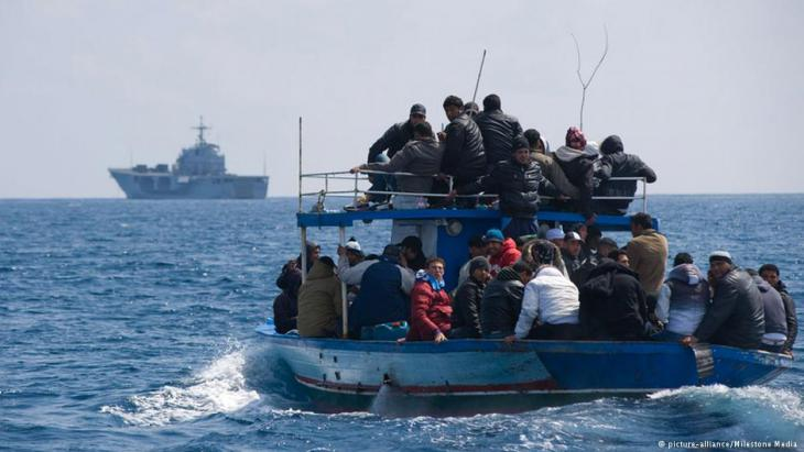 African refugees in the Mediterranean