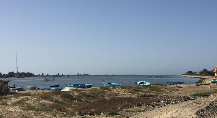 "Fishing boats awaiting the next ""mission"" (photo: Karim El-Gawhary)"
