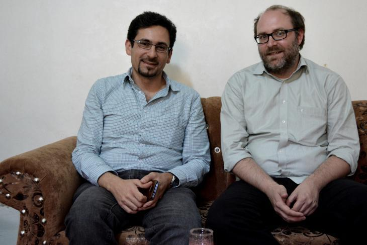 Andre Bank (right) and Yazan Doughan (photo: Jannis Hagmann)