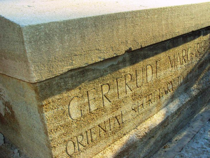 Gertrude Margaret Lowthian Bell′s grave (photo: Birgit Svensson)