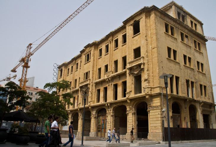 The last remaining building of the Beirut souks (photo: Changiz Varzi)