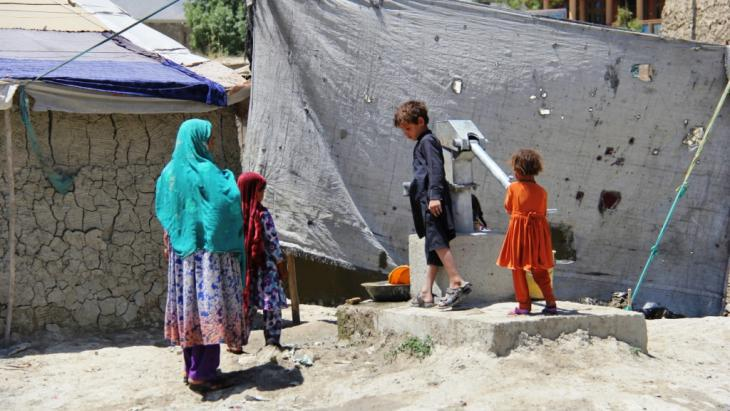 Afghan refugees from Helmand and Kandahar provinces in Kabul (photo: DW/H. Sirat)