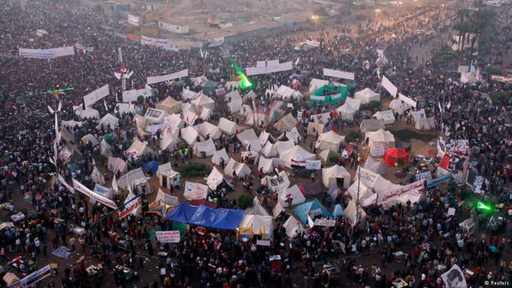 Tahrir Square demonstration against the Mubarak regime in 2011 (photo: Reuters)
