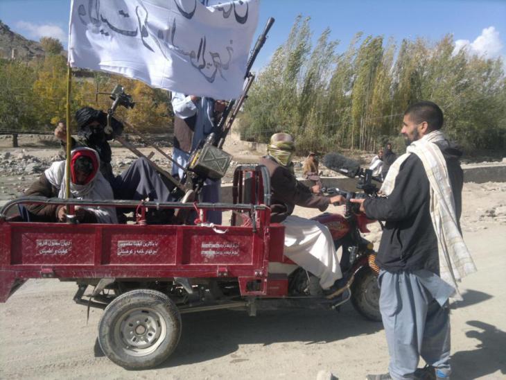 Nagieb Khaja with the Taliban in Helmand province, Afghanistan (photo: Nagieb Khaja)