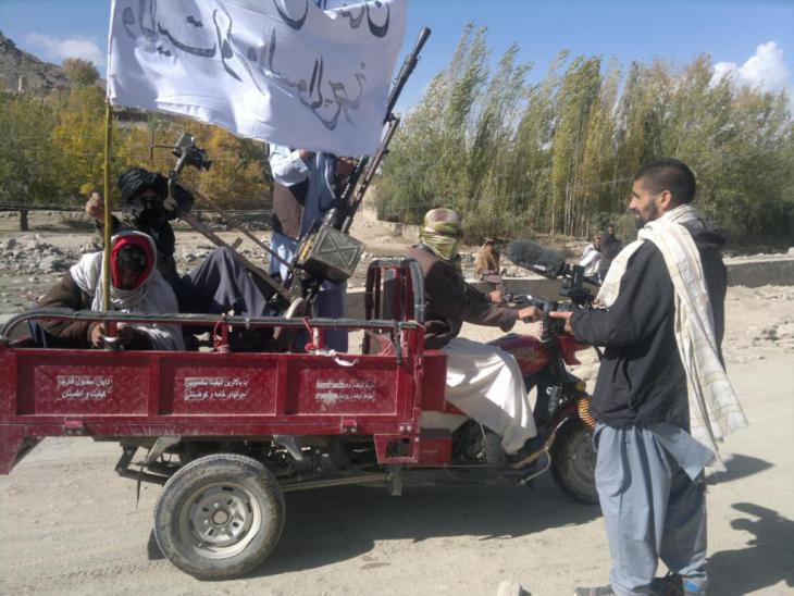 Nagieb Khaja with the Taliban in Helmand province, Afghanistan