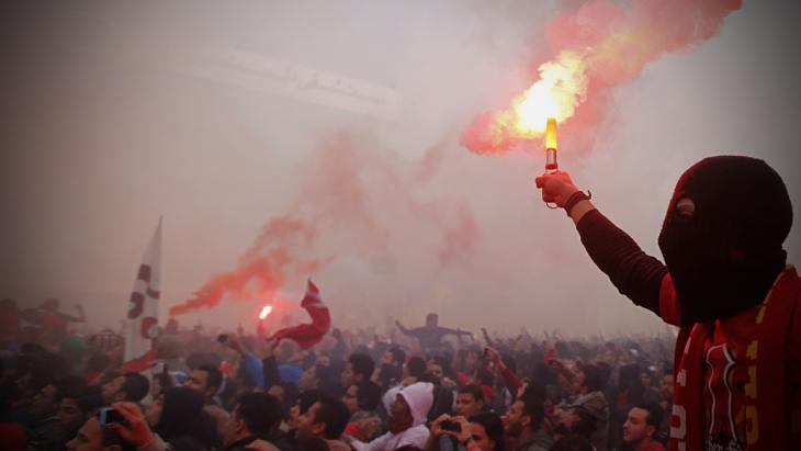 Al Ahly supporters in Cairo remember the Port Said massacre on 26 January 2013 (photo: Reuters)
