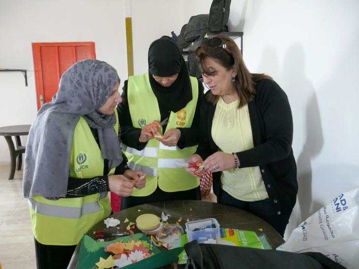 Volunteers at Azraq refugee camp (photo: Dana Ritzmann)