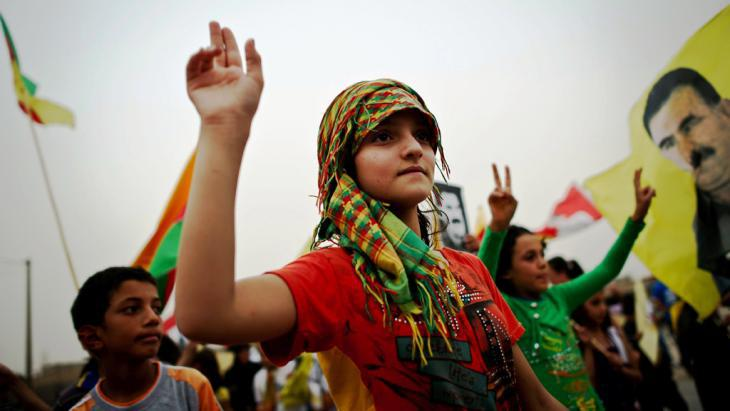 Young PKK supporter (photo: AP)