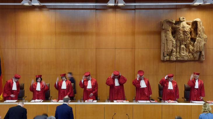 German Federal Constitutional Court in Karlsruhe (photo: picture-alliance/dpa/u.deck)