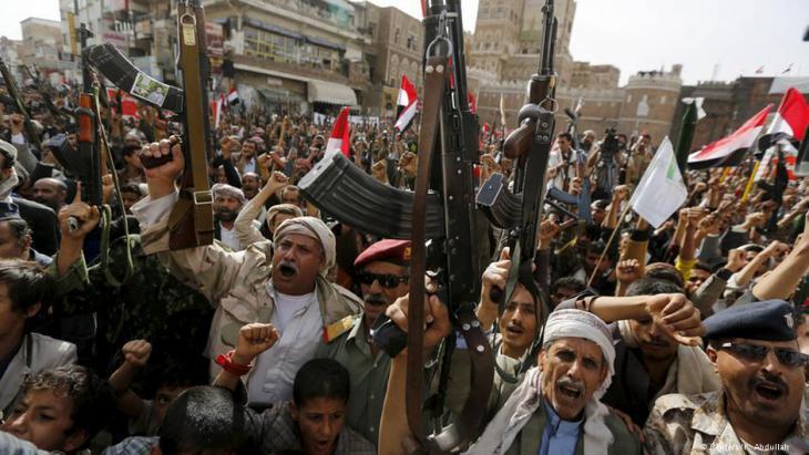 Houthi rebels in Sanaa (photo: DW/Abdullah)