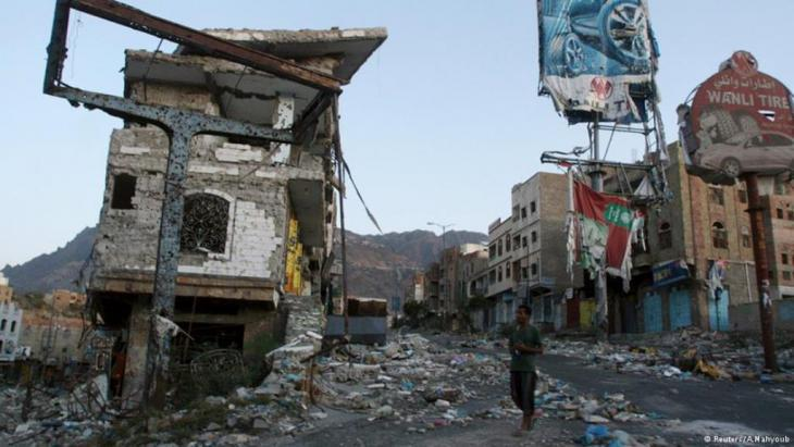 Destroyed houses in Yemen (photo: Reuters)