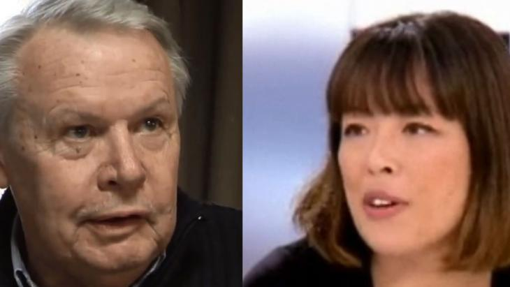 French journalists Eric Laurent and Catherine Graciet (photo: YouTube/TV5Monde and Journalisme UC)