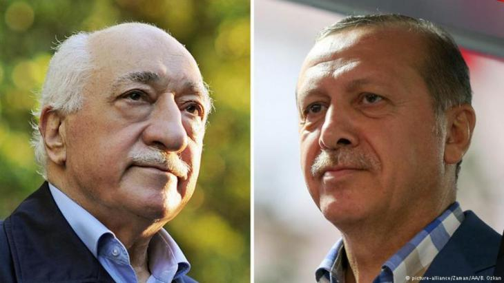 Fomer allies: Gulen (left) and Erdogan