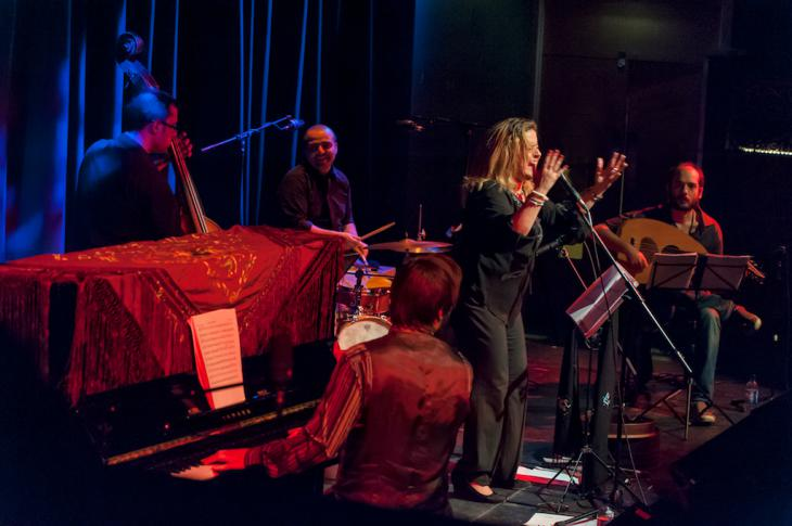 Reem Kelani performs live at the Tabernacle (photo: Christopher Scholey)