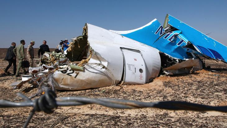 Kogalymavia Airbus A321 shot down over Sinai en route from Sharm El-Sheikh to St. Petersburg (photo: picture-alliance/AFP/Ria Novosti/N. Grigoriev)
