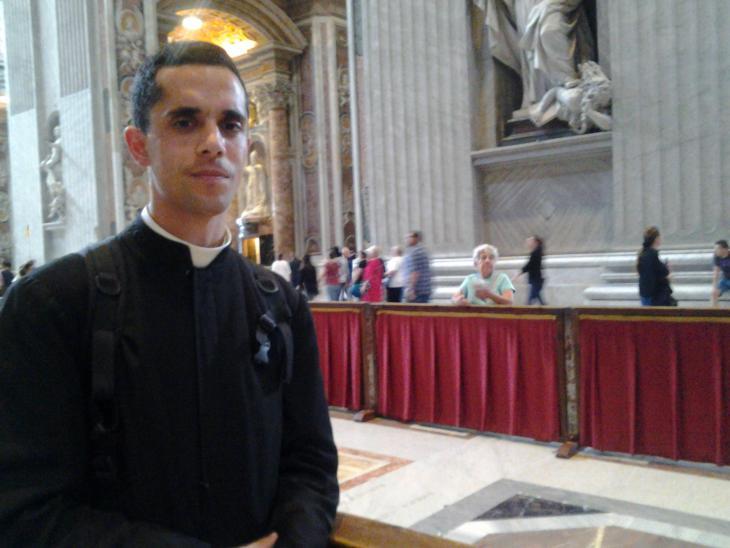 Brother Ignatius from Argentina (photo: Mulham Al Malaika)