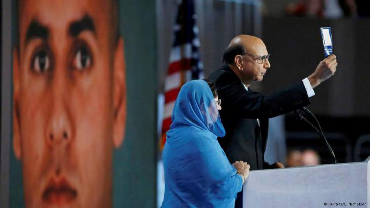 The Khans' appearance at the Democrat National Convention in Philadelphia