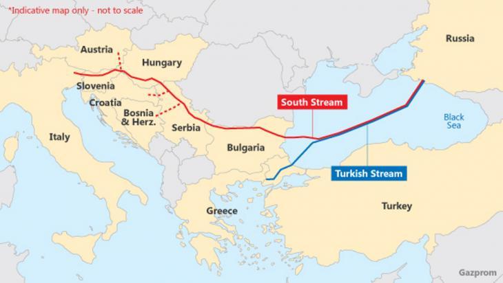 ″Turkish Stream″ gas pipeline (graphic: Gazprom)