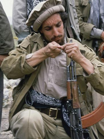 Ahmad Shah Massoud the mujahideen fighter, northern Afghanistan, 1986 (photo: AP)