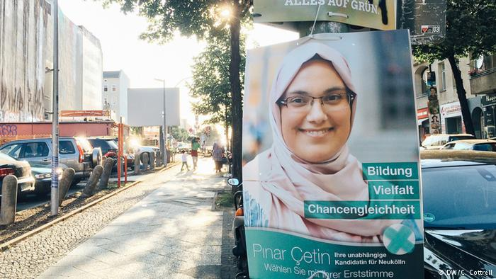 A Pinar Cetin election poster – independent candidate for the Neukolln district (photo: DW/C. Cottrell)