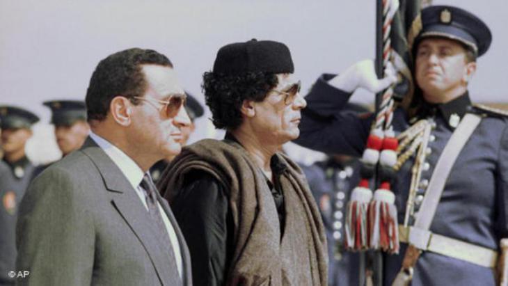 Ex-dictators Mubarak (Egypt) and Gaddafi (Syria)