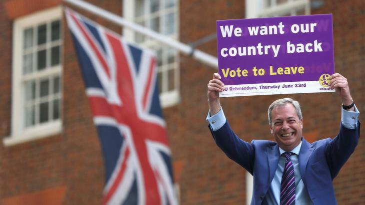 Former leader of UKIP and Brexiteer Nigel Farage (photo: Reuters/N. Hall)