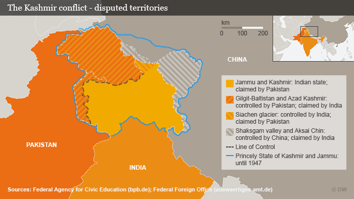 Kashmir conflict infographic (photo: DW)
