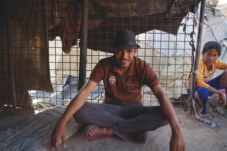 Suleiman Hassaseen, one of the lodge′s some 20 employees (photo: Claudia Mende)