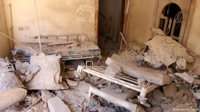 Destroyed hospital in Aleppo
