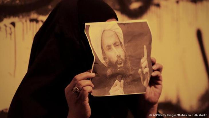 Protesting the Saudi conviction of Shia Sheikh Nimr al-Nimr in Bahrain, 15.10.2014