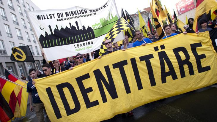 Neofascists belonging to the identitarian movement demonstrate in Berlin (photo: Imago)