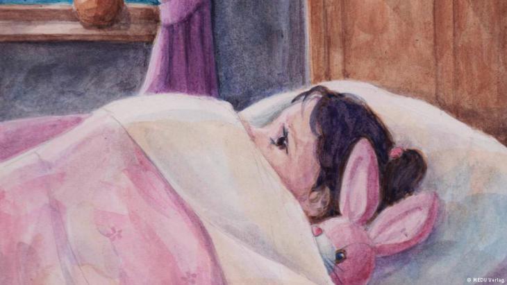 """Illustration from """"Ein Stern, der in dein Fenster schaut"""" (A star that peers through your window), published by Medu"""