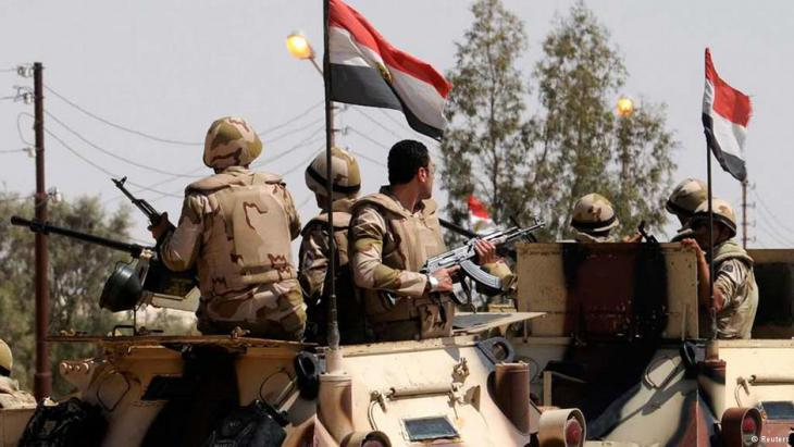 Egyptian army on patrol in the Sinai peninsula (photo: Reuters)