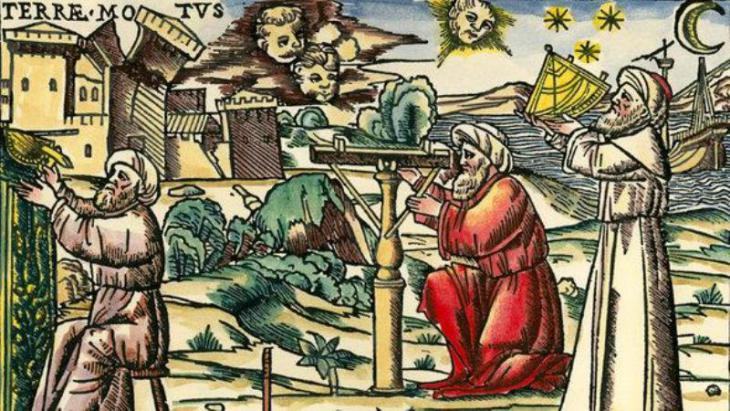 Wood engraving showing Arab astrologers with measuring devices, Venice 1513  (photo: picture-alliance)
