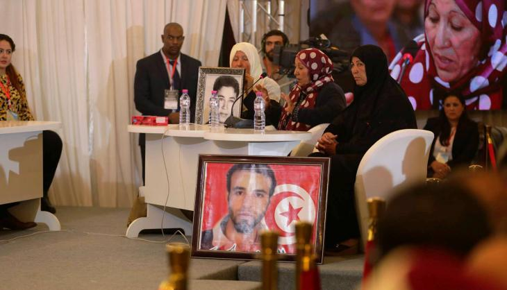Public Truth and Dignity Commission hearing in Tunis (source: TDC press office)