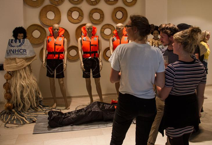 Dady de Maximo's installation 'If the sea could talk.' This piece was originally presented as a 45-minute fashion show during CAMP's inauguration in 2015