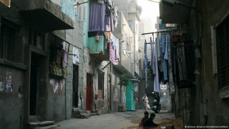 A street in one of Cairo's many slum districts