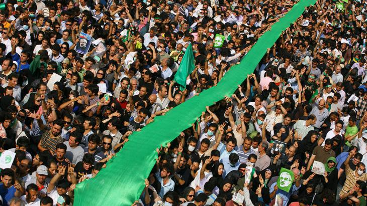 Green movement demonstration in Tehran, June 2009 (photo: Getty Images)