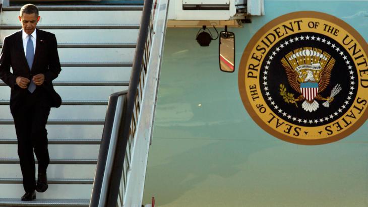 US President Barack Obama arriving at Schipol Airport in the Netherlands (photo: Reuters)