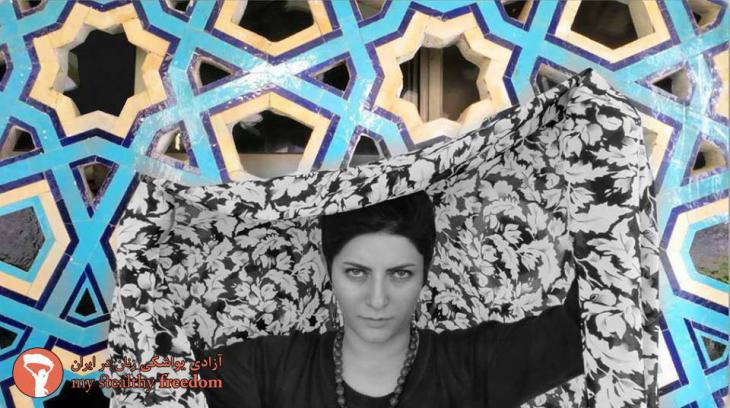 Participant in the My Stealthy Freedom Internet campaign in Tehran (source: My Stealthy Freedom)